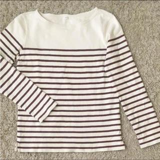 ムジルシリョウヒン(MUJI (無印良品))の【はるはる様 専用】ボーダー 長袖Tシャツ(Tシャツ(長袖/七分))