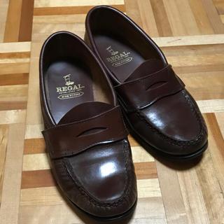 リーガル(REGAL)のREGAL リーガル コインローファー ブラウン 茶色 22cm レディース(ローファー/革靴)