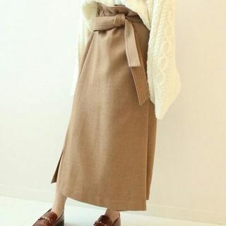 ノーブル(Noble)のノーブル  ボタニー オーバータック ロングタイト スカート(ロングスカート)