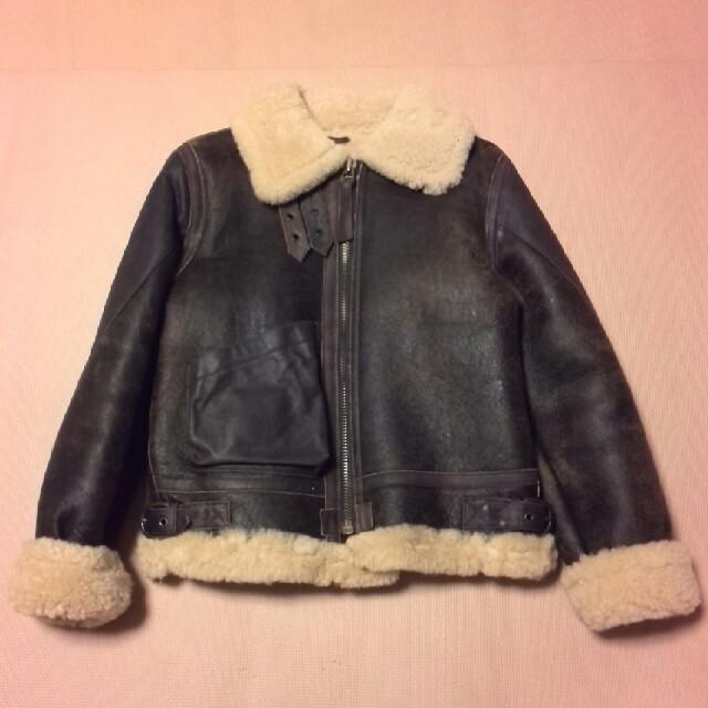 CHEVIGNON(シェビニオン)のシェビニオンガール 未使用 ムートンコート アビレックス B3 メンズ ブラウン レディースのジャケット/アウター(ムートンコート)の商品写真