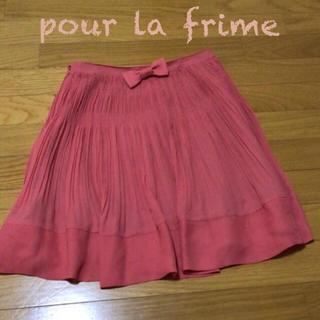 プーラフリーム(pour la frime)のpour la frime♡プリーツスカート リボン(ひざ丈スカート)