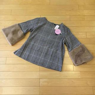 シマムラ(しまむら)の新品♡袖ファー2wayトップス(カットソー(半袖/袖なし))