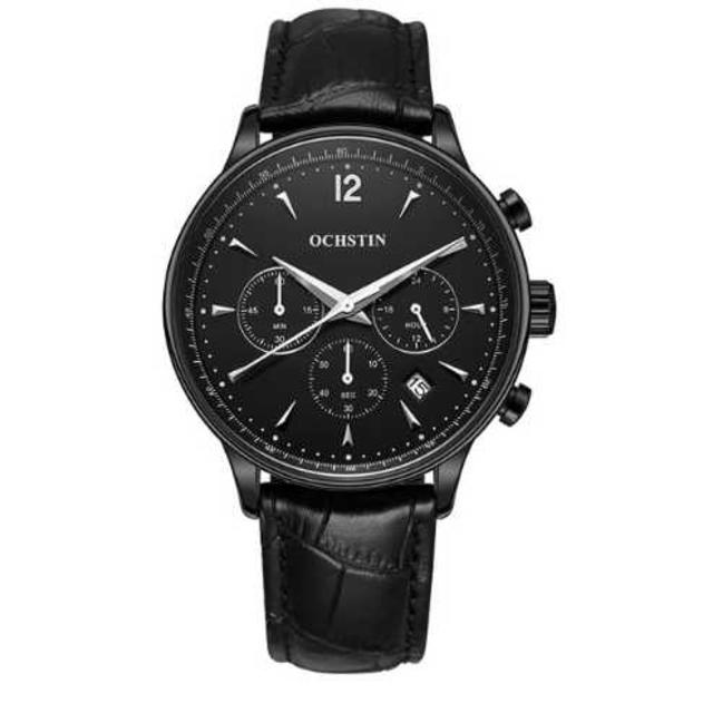 新品未使用 OCHSTIN メンズ 高級腕時計 精密 クロノグラフ ブラック メンズの時計(腕時計(アナログ))の商品写真