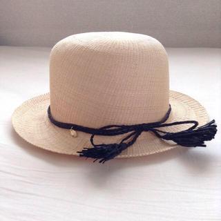 キャトルセゾン(quatre saisons)のキャトルセゾン購入 帽子 美品 麦わら(ハット)