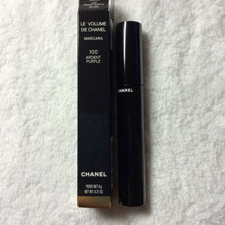 シャネル(CHANEL)の限定色!未使用【CHANEL】 カラーマスカラ 100アンダン パープル(その他)