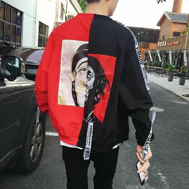 【最安値♥】ピエロジャケット MA-1 ストリート系 supreme系 黒/赤 レディースのジャケット/アウター(ブルゾン)の商品写真