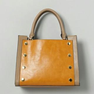 ジーナシス(JEANASIS)の新品スクエアカラーブロックトートバッグ★(ショルダーバッグ)