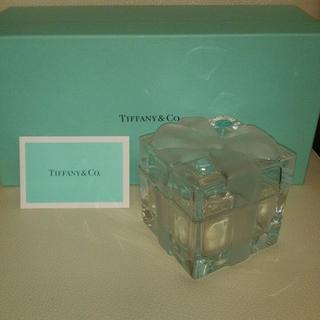ティファニー(Tiffany & Co.)の新品レア【入手困難】ティファニー クリスタル ボックス,ガラス小物入れ(テーブル用品)