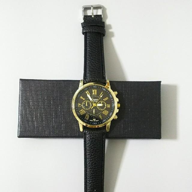 クォーツドレスウォッチ 腕時計 ブラック メンズの時計(腕時計(アナログ))の商品写真