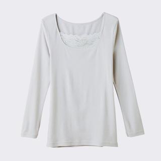 グンゼ(GUNZE)の日本製 グンゼ 発熱長袖 インナー 胸元レース(アンダーシャツ/防寒インナー)