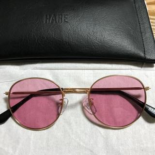 ハレ(HARE)のHARE サングラス 赤 レッド メンズ カラーレンズ(サングラス/メガネ)