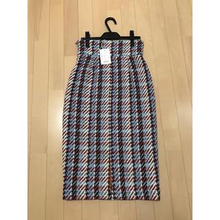 デイシー(deicy)のdeicy ロービングチェックタイトスカート(ひざ丈スカート)