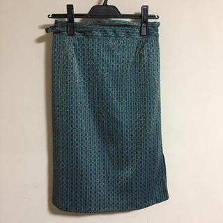 ロキエ(Lochie)の【古着】鍵柄のバブリーなタイトスカート(ひざ丈スカート)