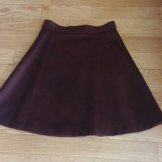 デミルクスビームス(Demi-Luxe BEAMS)のLAPIS LUCE ウールスカート ボルドー(ひざ丈スカート)