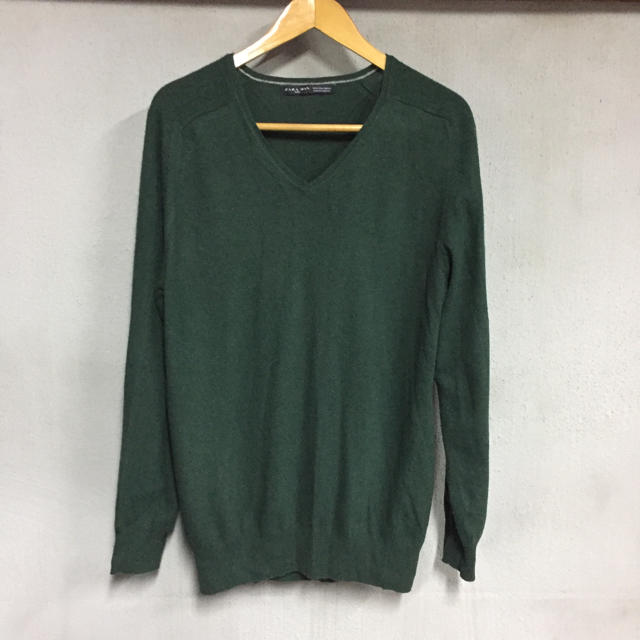 ZARA(ザラ)のミッキー様専用 ZARA men セーター グリーン メンズのトップス(ニット/セーター)の商品写真