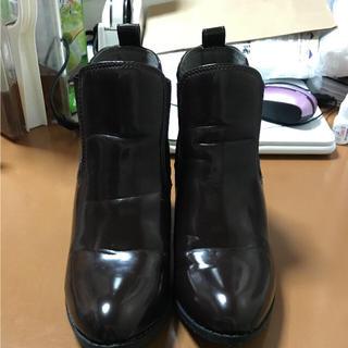 ジーユー(GU)のGU ショートブーツ ダークブラウン M(ブーツ)