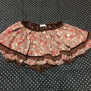 リズリサ(LIZ LISA)のLIZLISA 花柄×チェックのスカパン(ミニスカート)