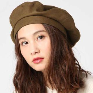 マウジー(moussy)の新作 MELTON BERET moussy 新品タグつき ブラウン ベレー帽(ハンチング/ベレー帽)