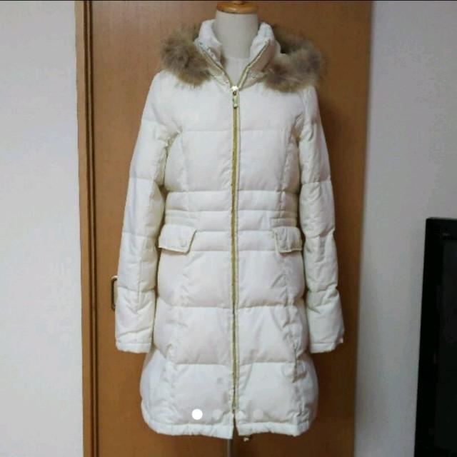 ホワイトダウンコート レディースのジャケット/アウター(ダウンコート)の商品写真