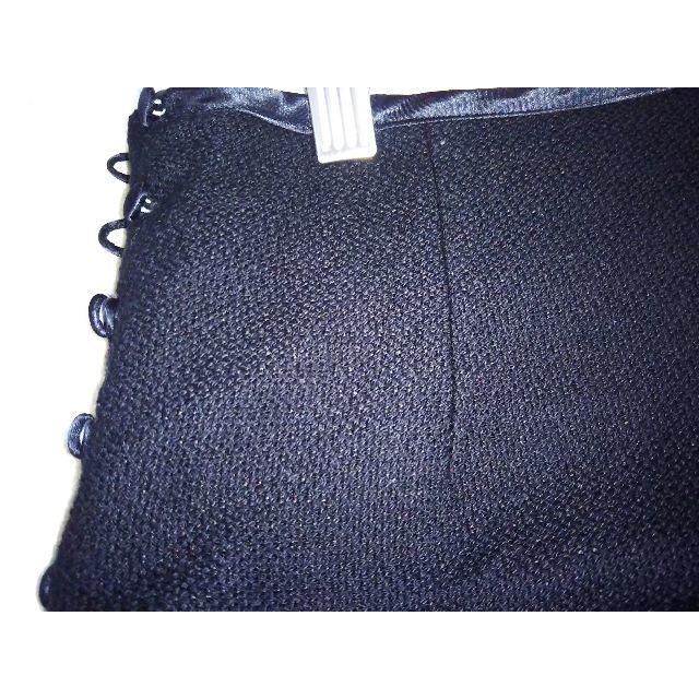 HUMAN WOMAN(ヒューマンウーマン)のHUMAN WOMAN  シンプル黒スカート レディースのスカート(ひざ丈スカート)の商品写真