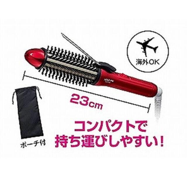 KOIZUMI(コイズミ)のKOIZUMI ボリュームアップアイロン ミニレッド KHR-6000/R スマホ/家電/カメラの美容/健康(ヘアアイロン)の商品写真