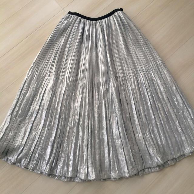 Chesty(チェスティ)のChesty チェスティ ❤ プリーツ ロング スカート シルバー レディースのスカート(ロングスカート)の商品写真