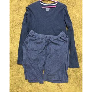 ムジルシリョウヒン(MUJI (無印良品))の無印良品 ルームウェア上下 Mサイズ 出張時に着ただけなので美品です☆(Tシャツ/カットソー(七分/長袖))