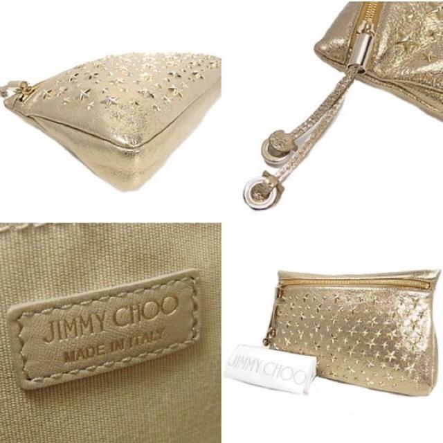 JIMMY CHOO(ジミーチュウ)のジミーチュウ ZENA スタースタッズ付き  ポーチ  クラッチバッグ レディースのバッグ(クラッチバッグ)の商品写真