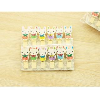 うさぎ ウサギ うさぎ木製クリップ 新品未使用品  送料無料(小動物)