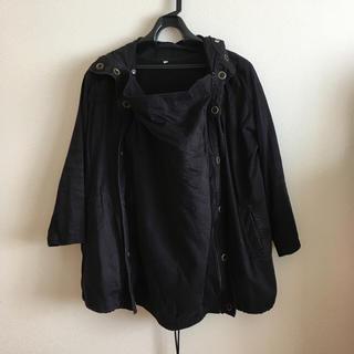 ムジルシリョウヒン(MUJI (無印良品))の無印 ママコート 黒(マタニティアウター)