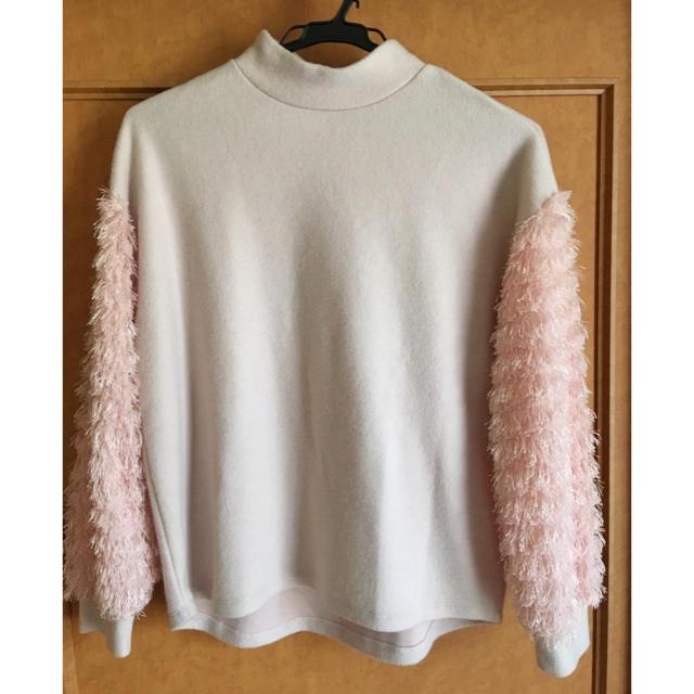 サーモンピンク ニット レディースのトップス(ニット/セーター)の商品写真