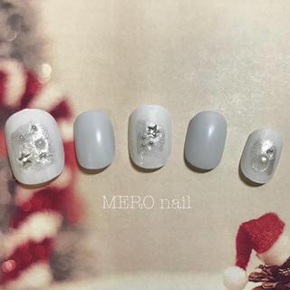 ネイルチップ(No.48  ホワイト×冬の空)