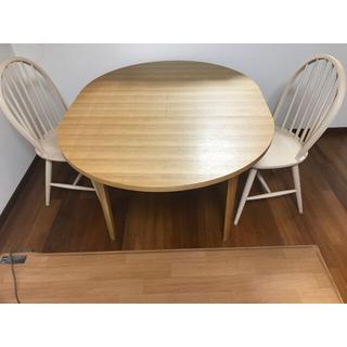 フランフラン(Francfranc)のレモン様専用 ダイニングテーブル チェア×2(ダイニングテーブル)