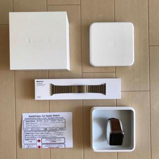 アップル(Apple)の【本体美品】Apple Watch Series2 42mm+リンクブレスレット(スマートフォン本体)
