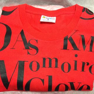 モモイロクローバーゼット(ももいろクローバーZ)の【chappy様 専用】ももクロ イニシャル盛り Tシャツ 赤(Tシャツ(半袖/袖なし))