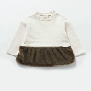 プティマイン(petit main)のmimi様専用プティマイン・裾 ファー付きトップス(トレーナー)