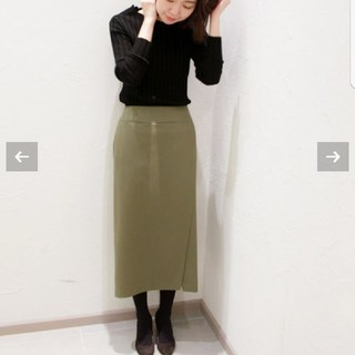 プラージュ(Plage)の新品★プラージュ ラップ ミディ ミモレ スカート Plage ワンピース(ひざ丈スカート)