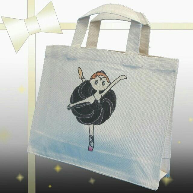 バレエイラスト エコバッグトート M 【オディール】 レディースのバッグ(トートバッグ)の商品写真