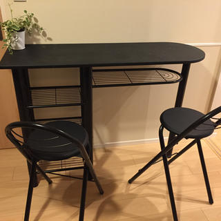 カウンターテーブル(いす2脚つき)(バーテーブル/カウンターテーブル)