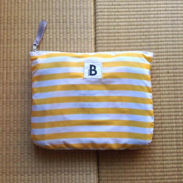 ROOTOTE(ルートート)のナイロン ボーダー ボストン ルートート イエロー&ホワイト  レディースのバッグ(ボストンバッグ)の商品写真
