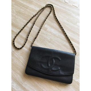 シャネル(CHANEL)のCHANEL シャネル チェーンウォレット 財布 正規品(財布)