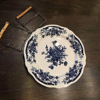 ニッコー(NIKKO)のBLUE CARNATION IRONSTONE 大皿◆ブルー カーネーション(食器)