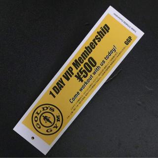 ゴールドジム 1DAY VIP Membership \500円チケット(その他)