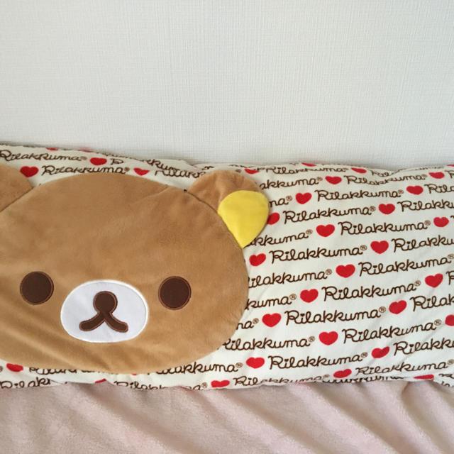 リラックマ☆ハートの抱き枕☆ エンタメ/ホビーのおもちゃ/ぬいぐるみ(ぬいぐるみ)の商品写真