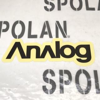 アナログクロージング(Analog Clothing)のANALOG アナログ 【STICKER】黒/透明 23.5cm 新品正規(アクセサリー)
