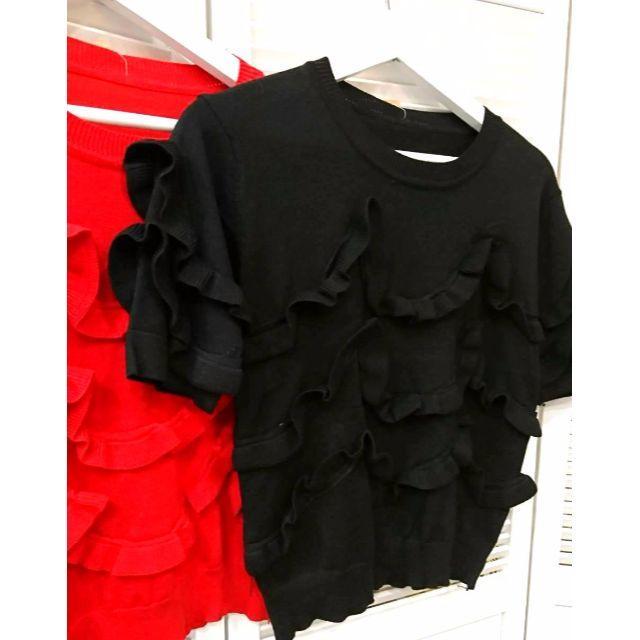 ループニット トップス ブラック 新品 レディースのトップス(ニット/セーター)の商品写真