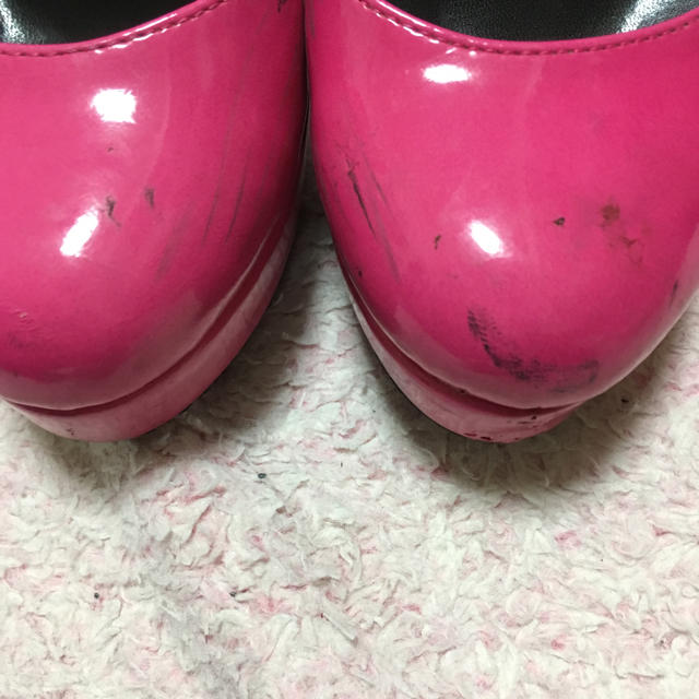 ショッキングピンクレースハイヒール レディースの靴/シューズ(ハイヒール/パンプス)の商品写真