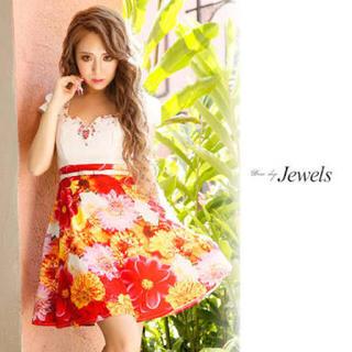 ジュエルズ(JEWELS)のリゾートサマーフラワーワンピ♡Jewels(ミニドレス)