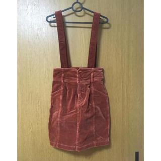 ミスティウーマン(mysty woman)のミスティーウーマン サスペンダー付きスカート(ひざ丈スカート)