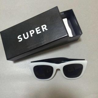 スーパー(SUPER)のSuper ホワイトサングラス(サングラス/メガネ)